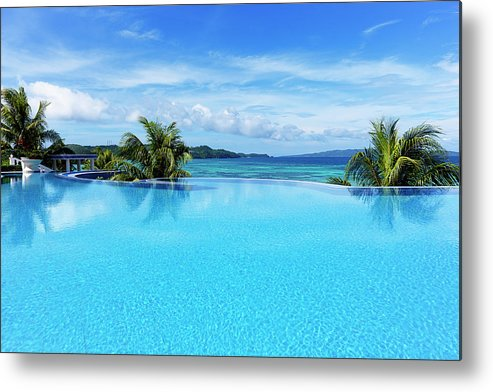 Scenics Metal Print featuring the photograph Infinity Swimming Pool by 35007