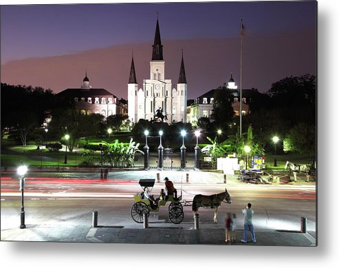 Southern Usa Metal Print featuring the photograph Jackson Square by Denistangneyjr
