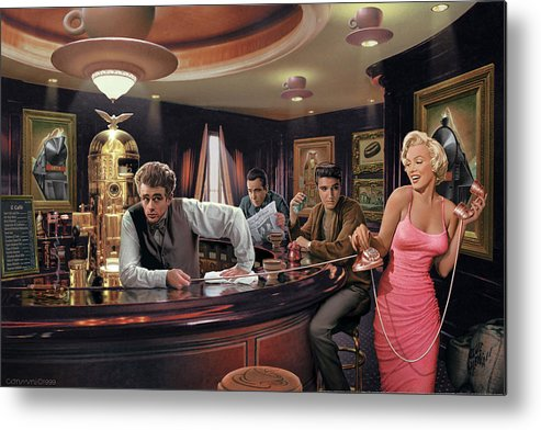 Marilyn Monroe Metal Print featuring the painting Java Dreams by Chris Consani