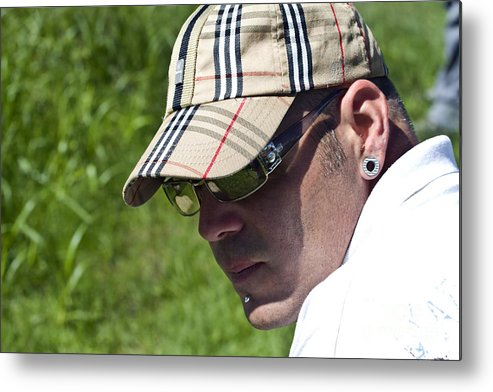 Metal Print featuring the photograph Jeff by Linda Ebarb