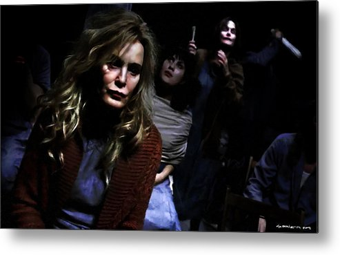 American Horror Story: Asylum Metal Print featuring the digital art Jessica Lange as Sister Jude @ TV serie American Horror Story Asylum by Gabriel T Toro