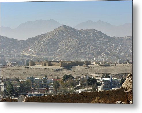 Outdoors Metal Print featuring the photograph Kabul City View, Afghanistan by Christophe cerisier