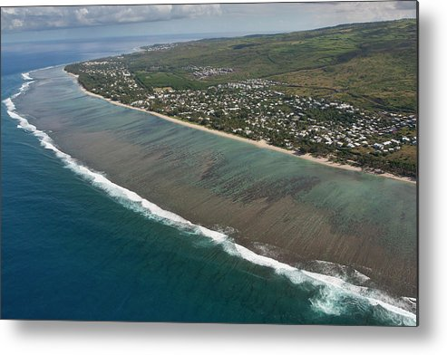Reunion Island Metal Print featuring the photograph Lagoon - St Paul - Reunion Island by Travel Photographer Specialized In Asia * Sylvain Brajeul