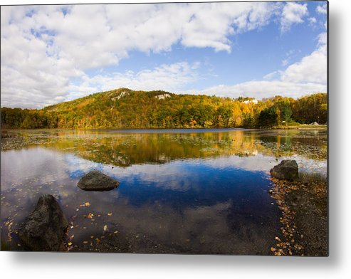 Lantern Hill Pond Metal Print featuring the photograph Lantern Hill Pond - North Stonington CT by Kirkodd Photography Of New England