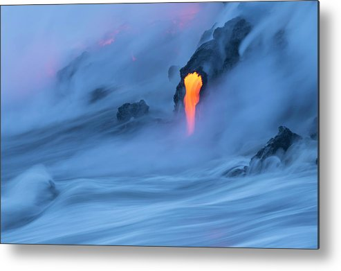 Cool Attitude Metal Print featuring the photograph Lava Ocean Entry by Justinreznick