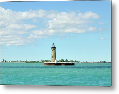 Scenics Metal Print featuring the photograph Lighthouse Lake St. Clair by Rivernorthphotography