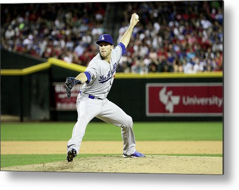 American League Baseball Metal Print featuring the photograph Los Angeles Dodgers V Arizona by Jason Wise