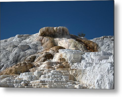 Blue Metal Print featuring the photograph Mammoth Hotsprings 4 by Frank Madia