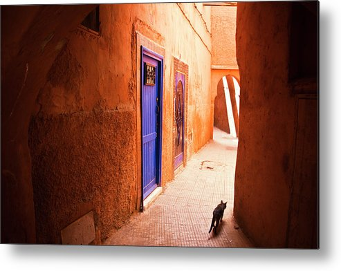Arch Metal Print featuring the photograph Medina Of Marrakesh by Moreiso