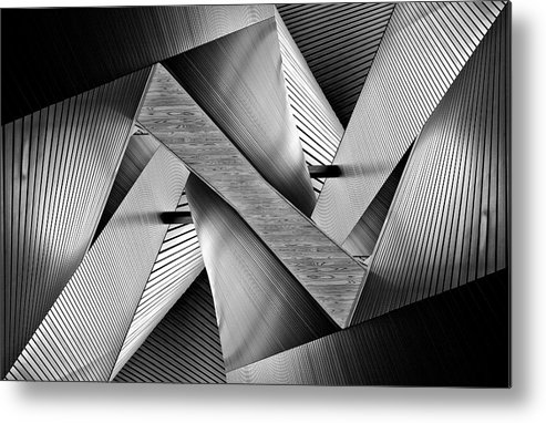 Asia Metal Print featuring the photograph Metal Origami by Koji Tajima