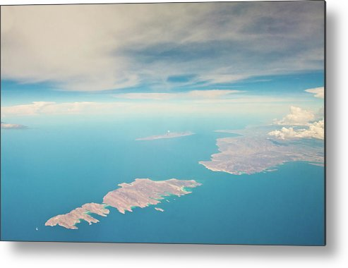Scenics Metal Print featuring the photograph Mexico Baja From Air by Christopher Kimmel