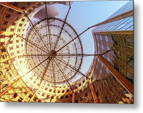 Corporate Business Metal Print featuring the photograph Modern Architecture With Sun Shade by Warchi