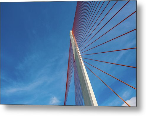 Hanging Metal Print featuring the photograph Modern Suspension Bridge by Phung Huynh Vu Qui