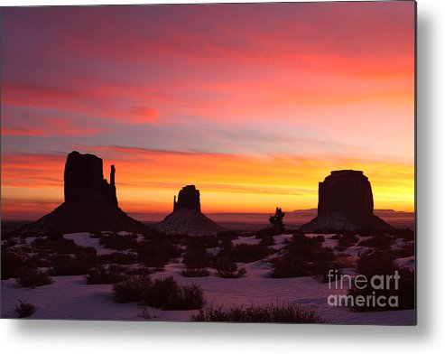 Monument Valley Metal Print featuring the photograph Monumental Sunrise by Bill Singleton