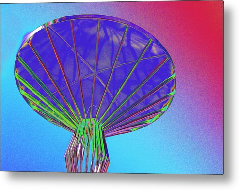 Alien Metal Print featuring the photograph Mothership at Dock by Richard Henne