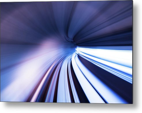 Curve Metal Print featuring the photograph Motion Tunnel by Loveguli