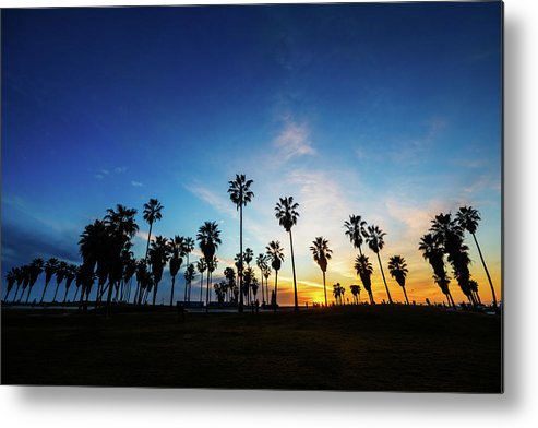 Shadow Metal Print featuring the photograph Muscle Beach At Dusk by Extreme-photographer