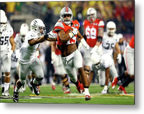 Scoring Metal Print featuring the photograph National Championship - Oregon V Ohio by Kevin C. Cox