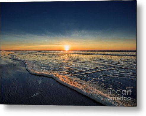 Sunset Photography Print Metal Print featuring the photograph Navy Sunset by Lucid Mood
