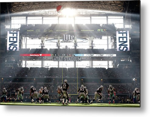 New England Patriots Metal Print featuring the photograph New England Patriots V Dallas Cowboys by Christian Petersen