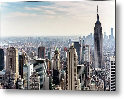 Scenics Metal Print featuring the photograph New York City Skyline by Denise Panyik-dale