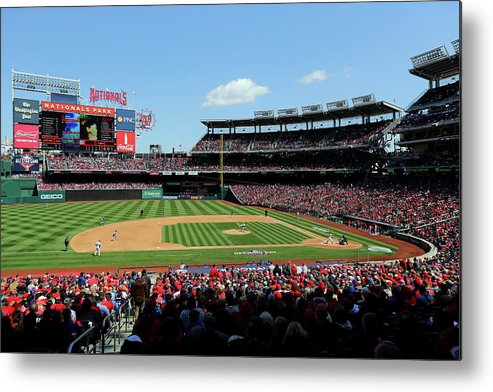 American League Baseball Metal Print featuring the photograph New York Mets V. Washington Nationals by Alex Trautwig