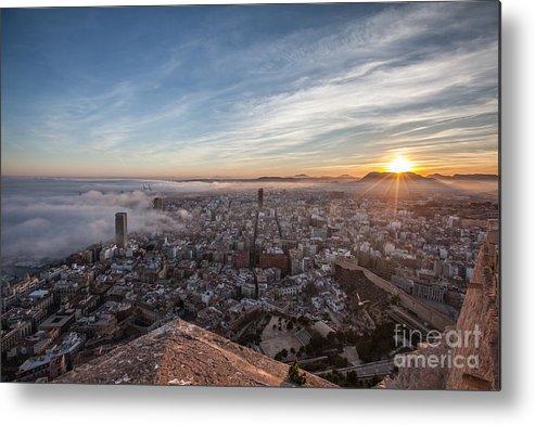 Alicante Metal Print featuring the photograph Niebla en Alicante by Eugenio Moya