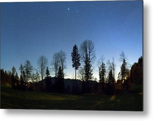 Beehive Metal Print featuring the photograph Night Panorama With Stars by Dr Juerg Alean