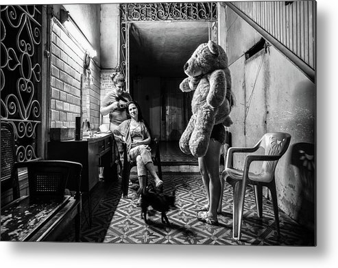Teddy Metal Print featuring the photograph Nights Life In Matanzas by Marco Tagliarino
