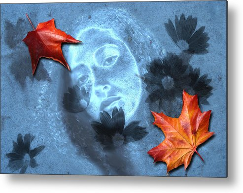 Autumn Metal Print featuring the digital art November by Lisa Yount