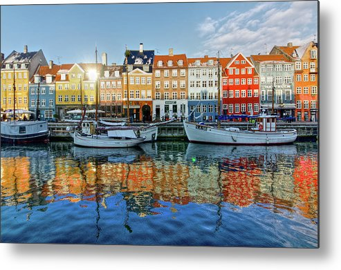 Copenhagen Metal Print featuring the photograph Nyhavn, Copenhagen, Denmark by Kateryna Negoda