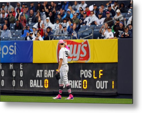 Crowd Metal Print featuring the photograph Oakland Athletics v. New York Yankees by Alex Trautwig