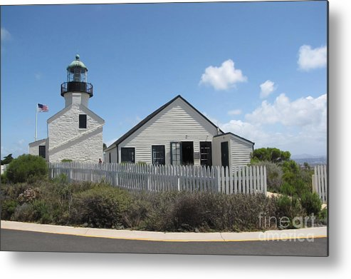 Lighthouse Metal Print featuring the photograph Old Point Loma Lighthouse 1 by Cedric Hampton