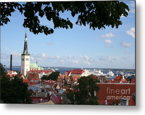 Old Town Metal Print featuring the photograph Old Town And Harbor - Tallinn by Christiane Schulze Art And Photography