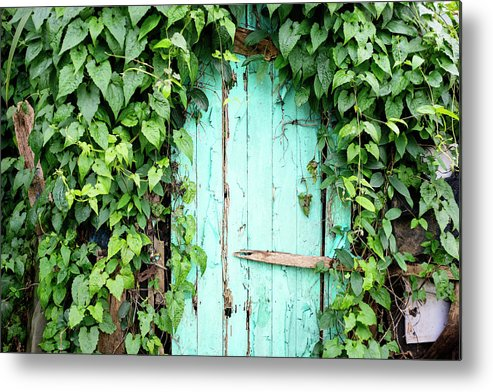 Outdoors Metal Print featuring the photograph Old Wooden Door by Real444