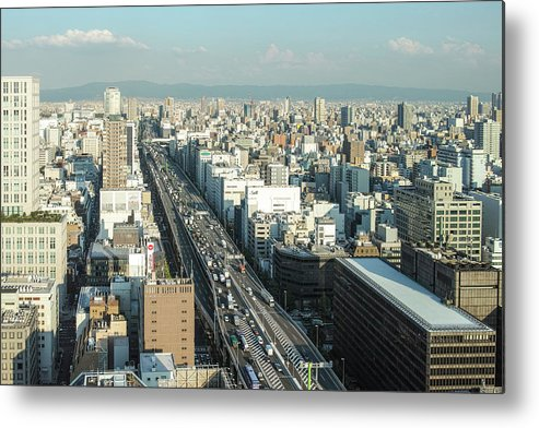 Osaka Prefecture Metal Print featuring the photograph Osaka Cityscape by I Love Photo And Apple.