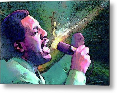 Otis Redding Metal Print featuring the painting Otis Redding by John Travisano