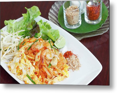 Prawn Metal Print featuring the photograph Pad Thai by Tommyix