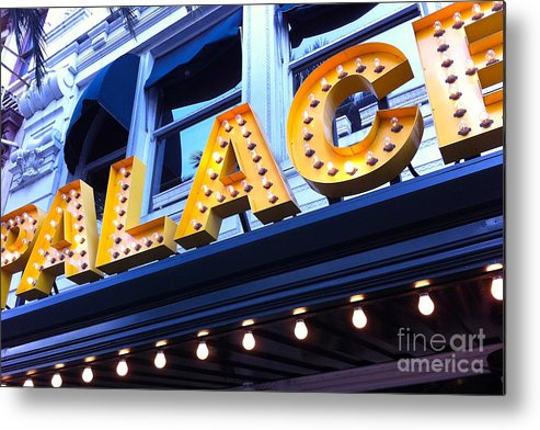 Palace Cafe Metal Print featuring the photograph Palace Cafe by Kim Fearheiley