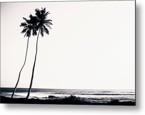 Empty Metal Print featuring the photograph Palm Trees And Beach Silhouette by Chrispecoraro