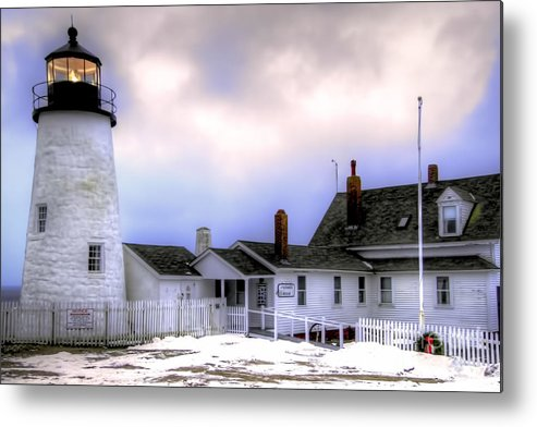 Bristol Metal Print featuring the photograph Pemaquid Point Lighthouse by Brenda Giasson