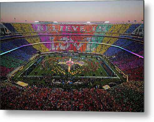 Levi's Metal Print featuring the photograph Pepsi Super Bowl 50 Halftime Show by Ezra Shaw
