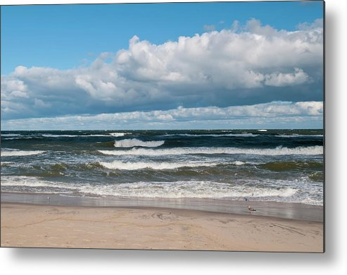 Water's Edge Metal Print featuring the photograph Poland, View Of Baltic Sea In Autumn At by Westend61