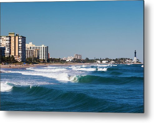 Tranquility Metal Print featuring the photograph Pompano Beach, Florida, Exterior View by Walter Bibikow
