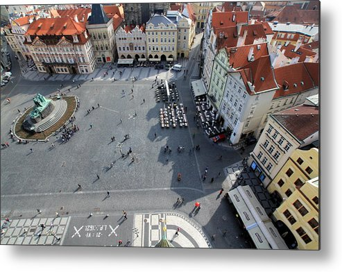 Tranquility Metal Print featuring the photograph Prague Old Town Square by J.castro