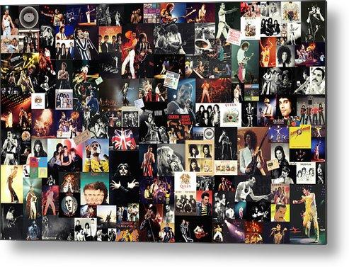 Queen Metal Print featuring the digital art Queen Collage by Zapista OU