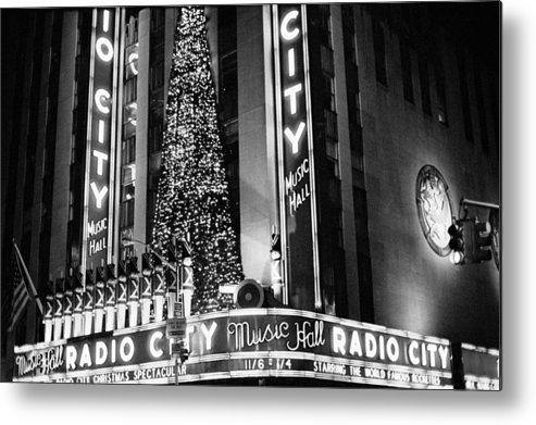 New York Photos Metal Print featuring the photograph Radio City New York by Dave Beckerman