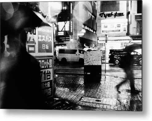 Street Metal Print featuring the photograph Rain by Tatsuo Suzuki