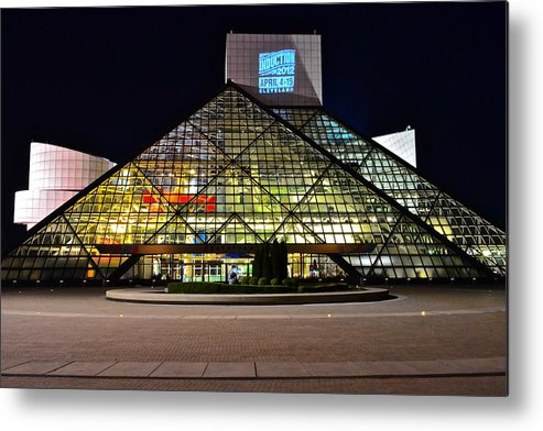 Rock And Roll Metal Print featuring the photograph Rock n Roll hall of Fame Induction by Frozen in Time Fine Art Photography