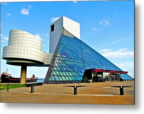 Rock Metal Print featuring the photograph Rock n Roll Hall of Fame by Frozen in Time Fine Art Photography